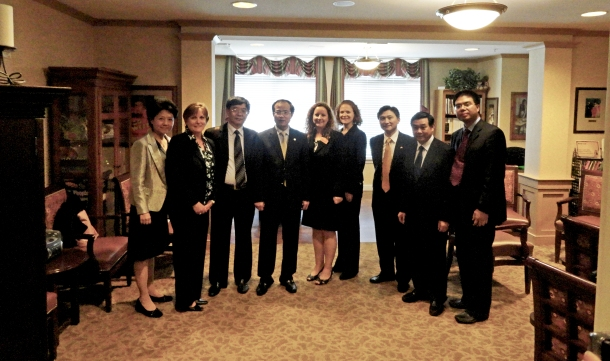 Chinese Delegation of Jiangsu Province at Sunrise Assisted Living of Sacramento