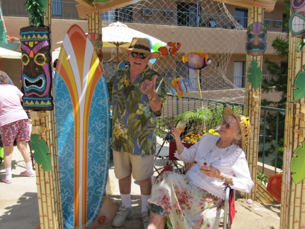 Huntington Terrace Fundraising Luau for the Alzheimer's Association