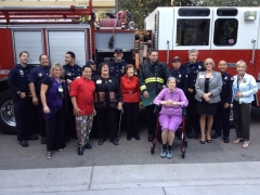 AgeSong at Lakeside Park honors first responders during Assisted Living Week.