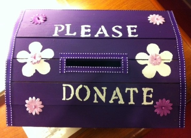 The Donation Box for the Alzheimer's Association at Somerford Place of Encinitas