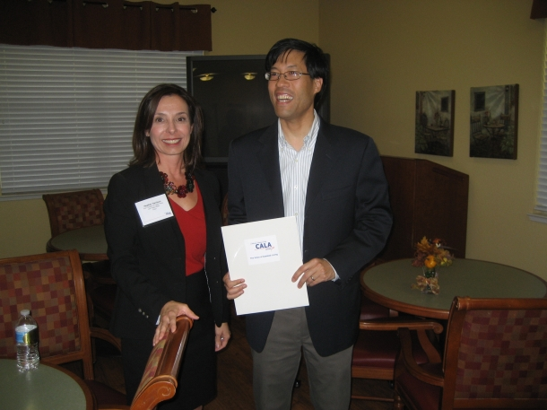 Dr. Richard Pan and Heather Harrison, Vice President of Public Policy and Public Affairs for CALA