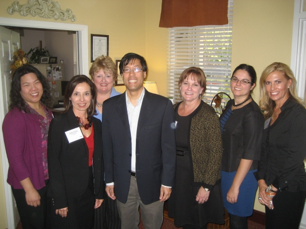 Dr. Pan, CALA staff, and representatives of Emeritus Senior Living