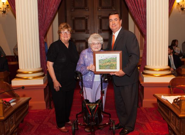 Joel Anderson Honors Assisted Living Resident on Senate Floor