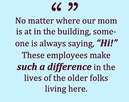Friday Reflections from Residents and Family Members