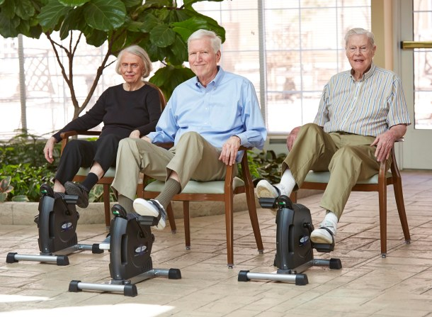 Residents participating in FIT to Pedal.