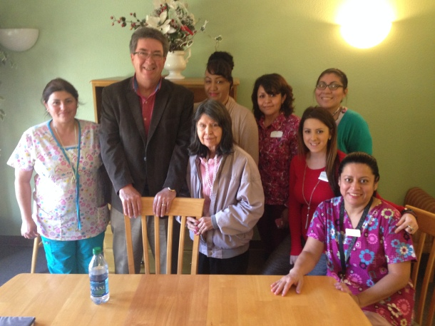 assemblymember cooley with the staff of citrus heights terrace