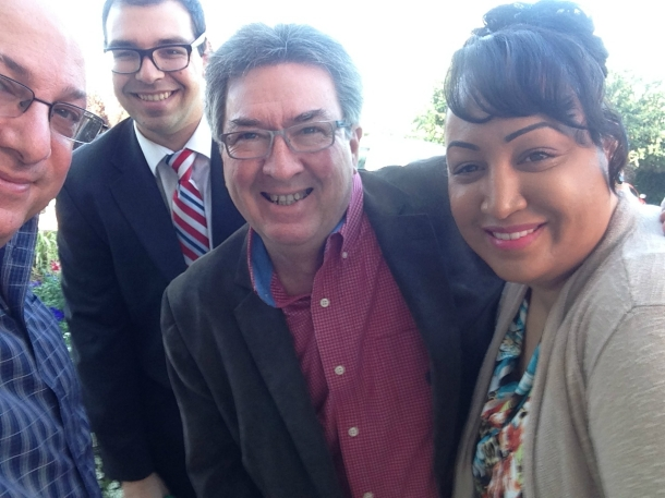assemblymember ken cooley at citrus heights terrace selfie