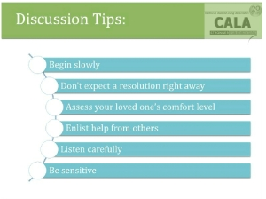 discussion tips dementia