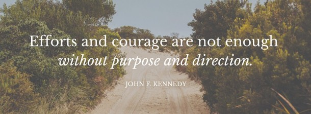 Efforts and courage are not enough without purpose and direction. (1)